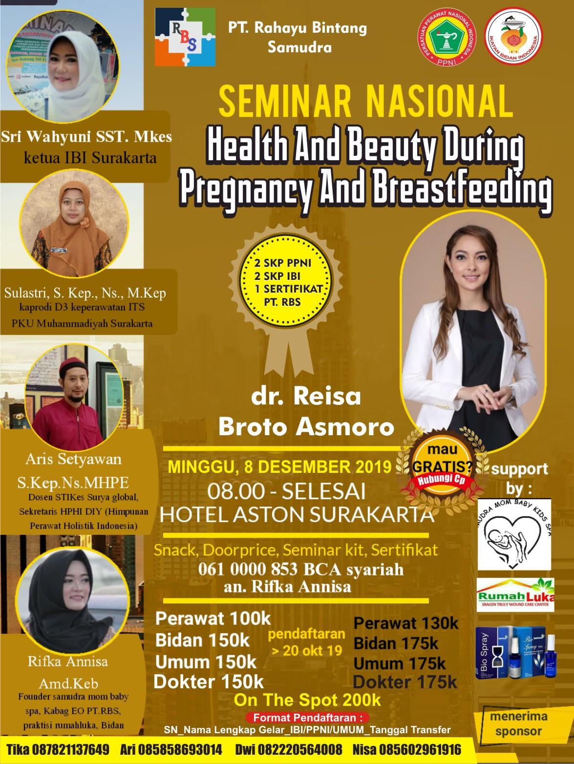 Seminar Nasional Health And Beauty During Pregnancy And Breastfeeding Seminar Dokter